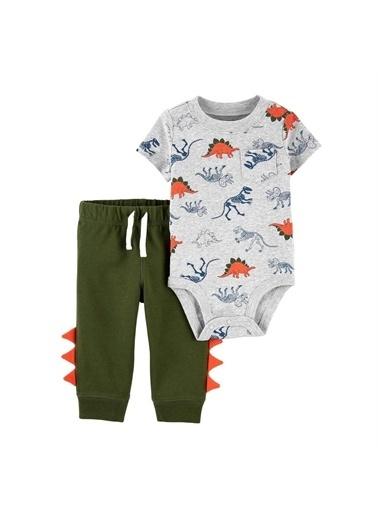 Carters Carter'S Dinazor Desenli 2'Li Bebek Takımı 1K476110 Pembe